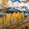 Chuck Knowles - Fall Aspens in the Sawtooths