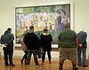 All shapes admire French Impressionists in Chicago Museum of Art.