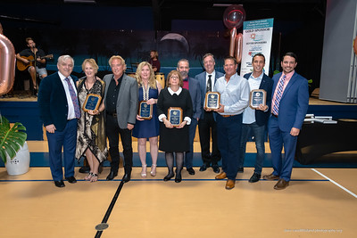 Left to right: Island Players - AMI Chamber Non Profit of the Year, Cedar Cove - Medium Size Business of the Year, Flowers by Edie - Small Size Business of the Year, Swordfish Grill & Tiki - Large Size Business of the Year