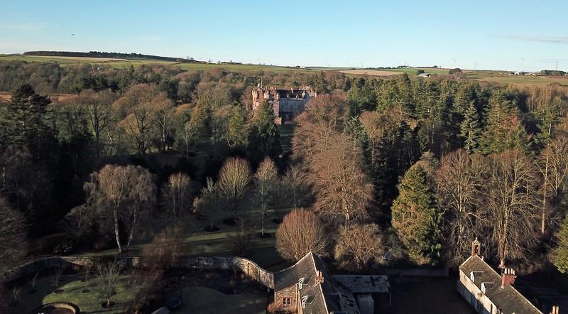 Fyvie Castle from the garden