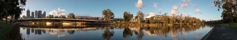 Swan Street Bridge panorama