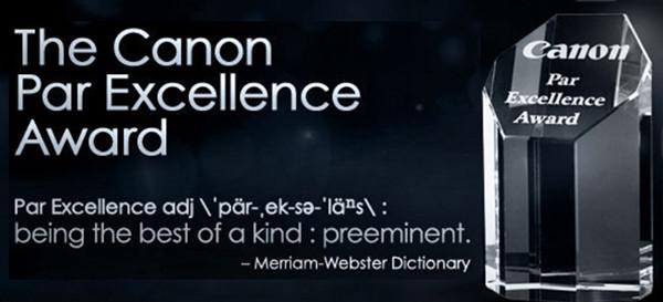 Canon Par Excellence Award 2018