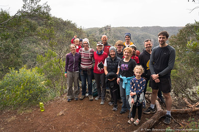 Party people at random lookout over Bungonia Gorge