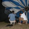 Local balloon crew member Gary and TPGA Executive Director, Bill Van Hoyhard at work.