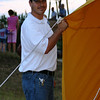 General Manager of Ferrellgas, KC Boeckman arrives with fellow employees to lend a hand as volunteer hot air balloon chase crew members.