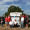 Pictured: Devin Monk, Lake Travis View; Rhonda Hartman, CEFCO Convenience Stores and her nephew, Eric, kneeling are KC Boeckman of Ferrellgas and Propane Exceptional Energy Hot Air Balloon Pilot, Philip Bryant along with Louie Jasso, Pilot, Rick Hatzel; Enrique Jasso, Jr and Enrique Jasso, Sr.