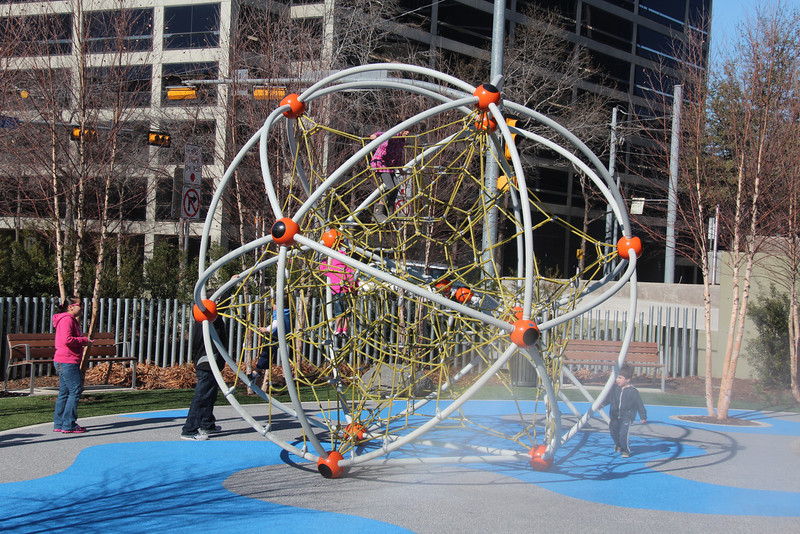 """This is the 21st Century Version of the """"Jungle Gym""""!  It looks more like a model of an atom to me!"""
