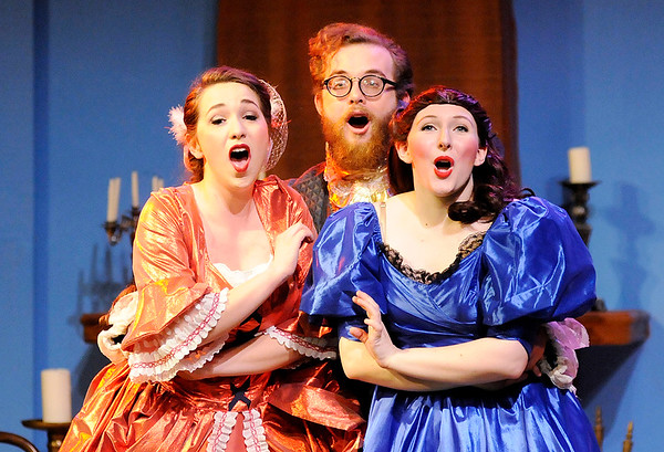 """Don Knight   The Herald Bulletin<br /> Anderson University's Boze Lyric Theatre's production of """"The Unicorn in the Garden"""" and """"Meanwhile Back at Cinderella's."""""""