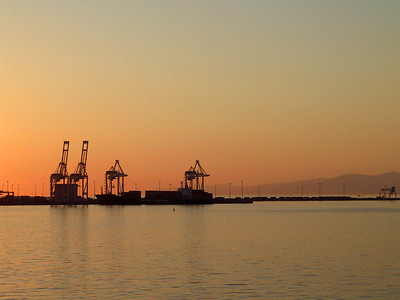 Sunset Loaders at Roberts Bank Superport.