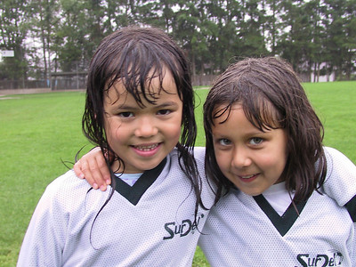 After their first ever soccer game, in a cold damp rain... amazing spirit and energy!