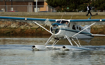 Seair DH2 Beaver C-GTMC on the Fraser River at south YVR float plane base.  Turning prior to engine run-up. A fave in memory of this aircraft and the 6 souls lost in a crash off Saturna Island on Nov 29th, 2009.