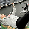 John P. Cleary | The Herald Bulletin<br /> Johanne Colson, 75, goes through her morning workout at the YMCA where she has been coming to for the last 28 years.