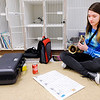 "Don Knight | The Herald Bulletin<br /> Lisa Leisure looks over the music for ""Go Daddy-O"" in the band room."