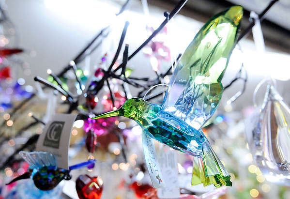 Don Knight | The Herald Bulletin<br /> Seasons of the Heart Gift Shoppe is stocked with gifts like this crystal humming bird.