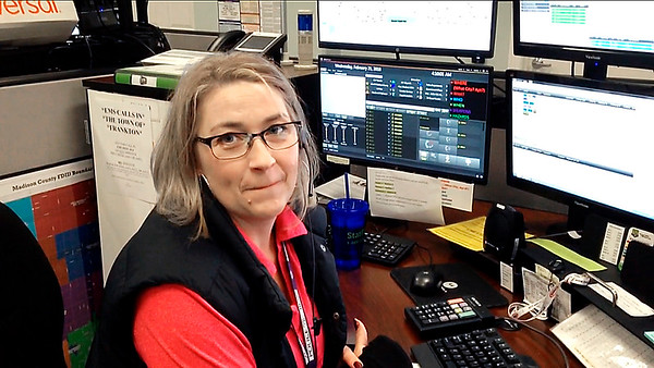 Rebecca Austin is the third-shift supervisor at the Madison County Central Dispatch Center.