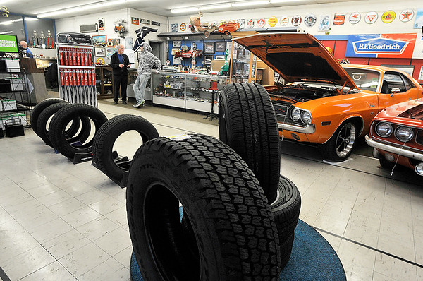 John P. Cleary | The Herald Bulletin<br /> T&J Tire is a full service auto repair shop, doing everything from brakes, suspension to engine replacement, staying busy all day according to owner Jeff Parker.