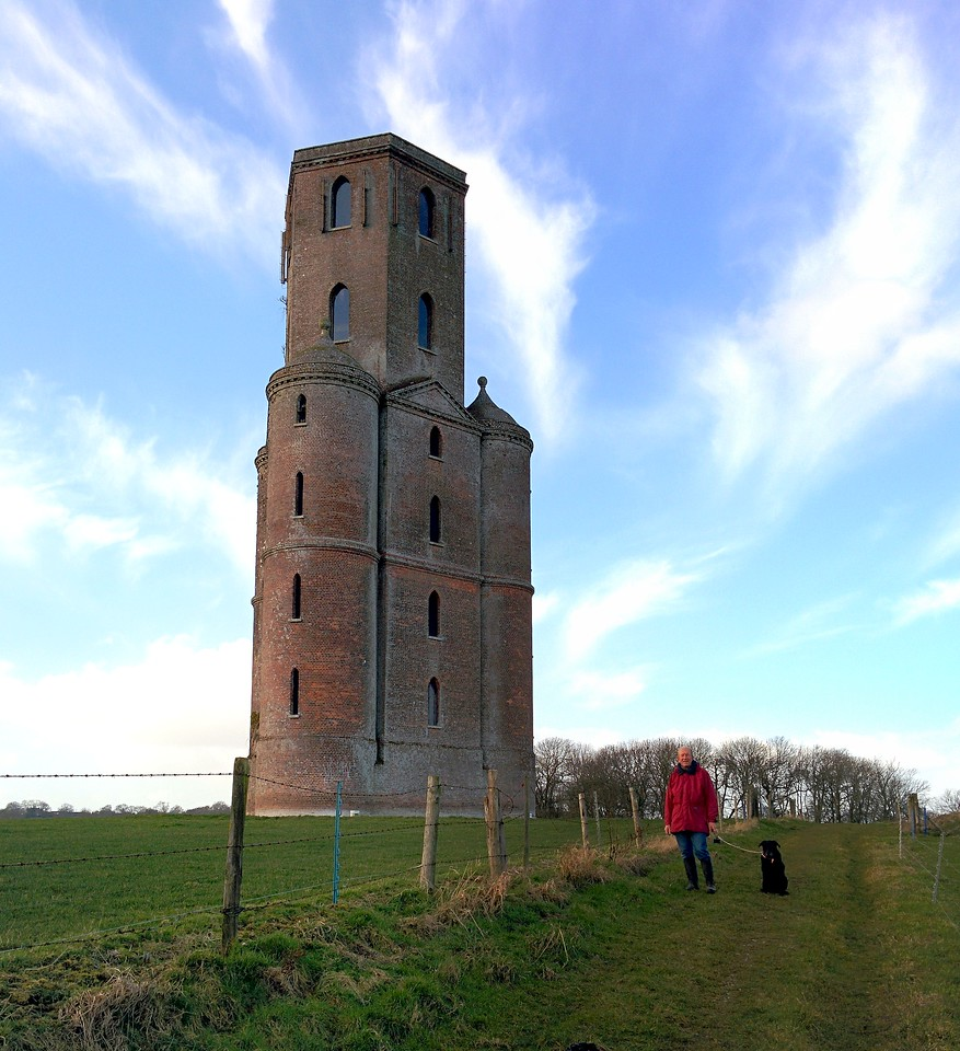Horton Tower, originally a folly and observatory, is now used to house Vodafone mobile phone equipment.