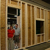 Here we are standing in our new front door!