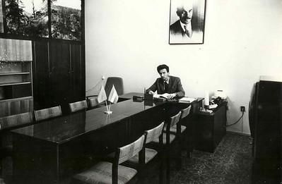 Л.Пикус в персональном кабинете Строительной Выставки.