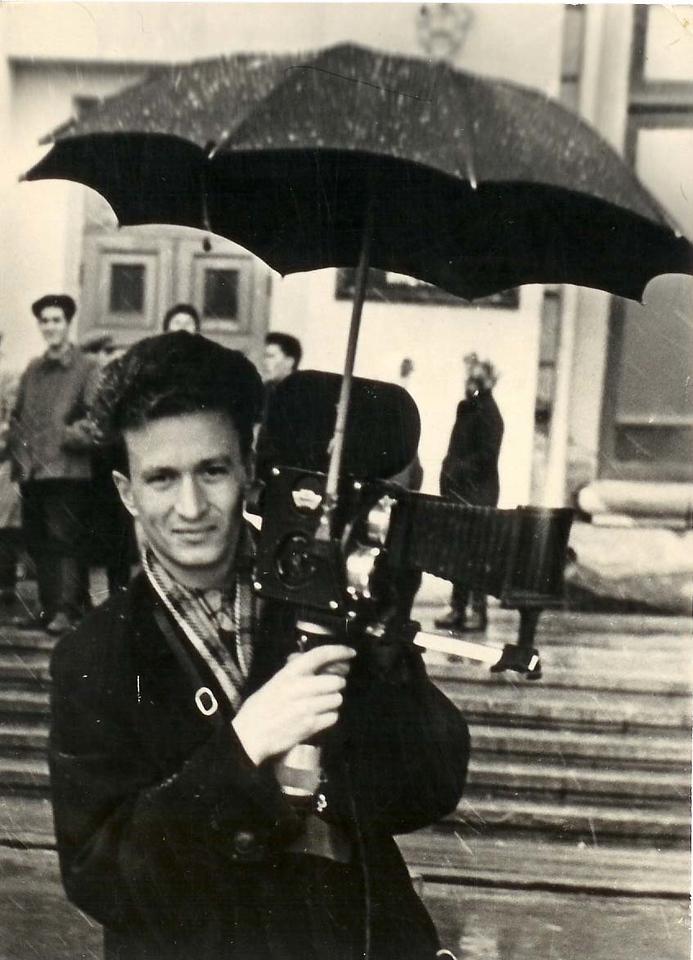 Л.Пикус на съёмке фильма.1960г.