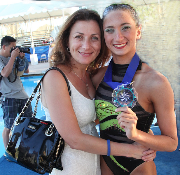 Pan American Synchronized Swimming Championships 2014. Danielle Emma with Mom . GOLD MEDAL.