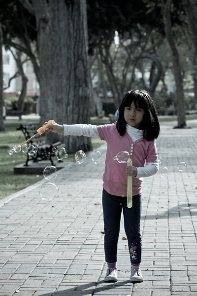 Day 20:  Seasonal, here in Peru is springtime.  A time for walks in the park and bubbles, lots of them.