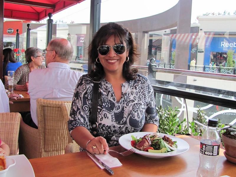 Day 1:  Salads, I looooove salads! And italian food, peruvian food, chinese food, mexican....