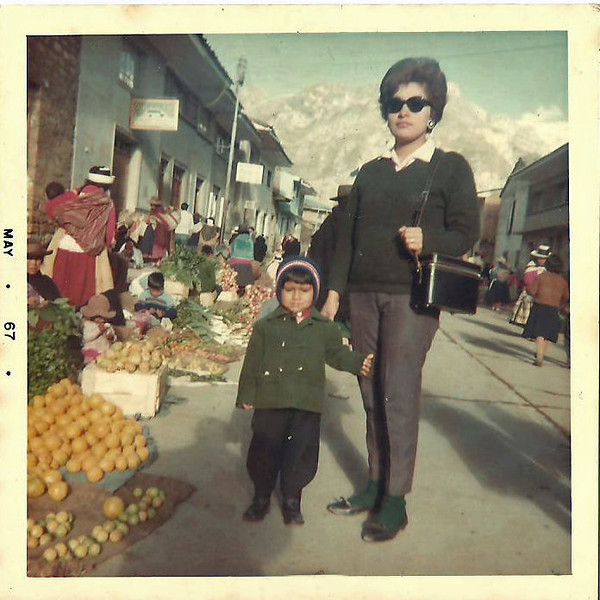 Day 17:  Memories... with mom at a street market in the city of Huancavelica, in the peruvian andes.
