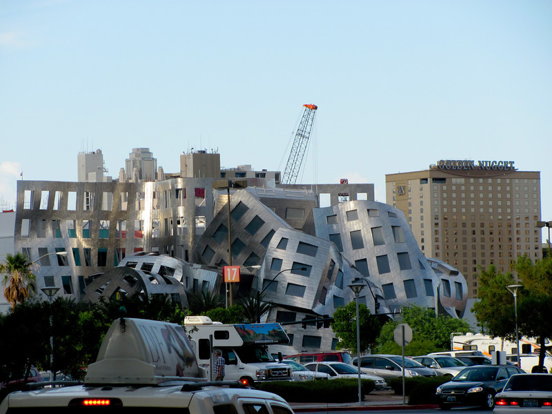 Day 18:  Something new, this picture may not look like something new, however this is a brand new building, house of the Lou Ruvo Center for Brain Health in Las Vegas