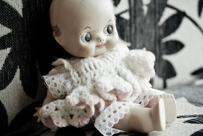 Day 11:  Something old, this Kewpie Doll reminds me of my childhood.  My sister had a Kewpie Doll and I always wanted to have her doll.  This time, I have one of my own, this one is a ceramic one though.