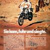 """Advertisement """"Sie kam, fuhr und siegte."""" (03/2010)"""