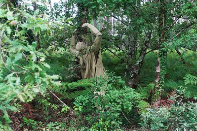 Sculpture en papier mâché faite par Véronique.
