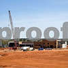 The construction site for a new Sanderson Farms processing plant in Tyler, Texas, on Wednesday, March 21, 2018. (Chelsea Purgahn/Tyler Morning Telegraph)
