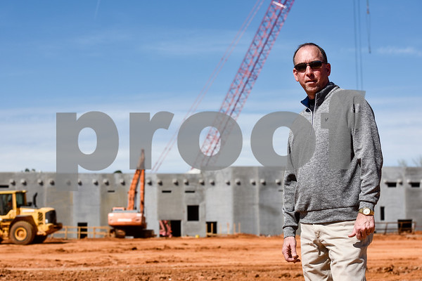 Pic Billingsley stands at the construction site for a new Sanderson Farms processing plant in Tyler, Texas, on Wednesday, March 21, 2018. (Chelsea Purgahn/Tyler Morning Telegraph)