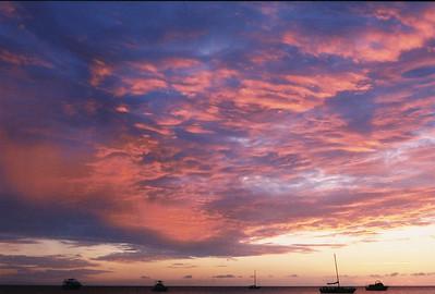 sunset in Negril Jamaica