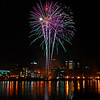 186/365-Fireworks over Downtown St. Paul from Harriet Island