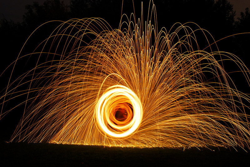 225/365 Spinning steel wool