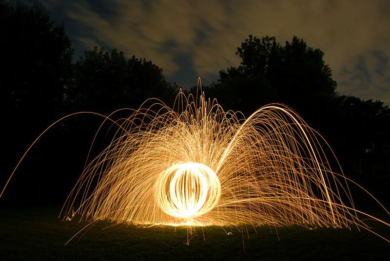 226/365-Spinning steel wool