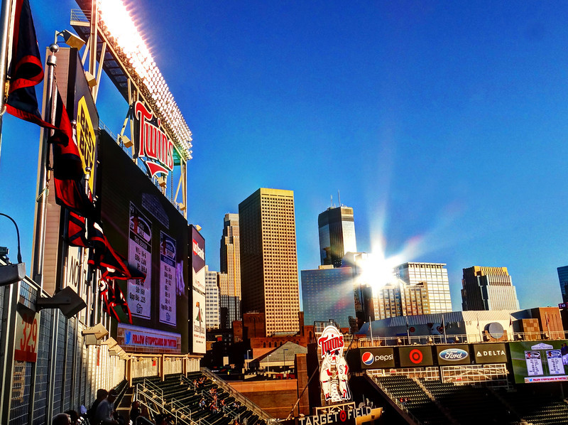 258/365-Sunset reflection at Target Field