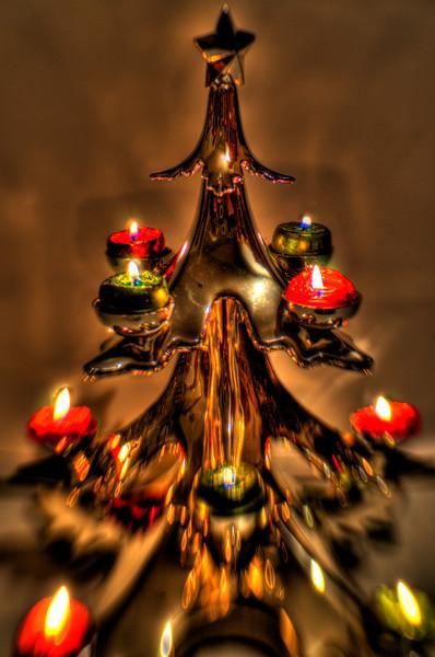 352/365-Christmas tree candelabra