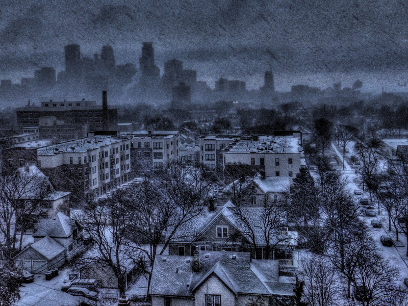 317/365-The first measurable snowfall in Minneapolis