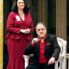 "Mark Maynard | for The Herald Bulletin<br /> Rhonda Tinch-Mize and Rick Vale portray Gertrude and Claudius in ""Hamlet"" being presented at the Anderson Museum of Art."