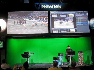3PLAY Video LIVE from trhe NEWTEK booth at NAB 2009