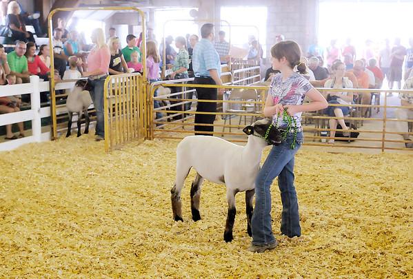 Don Knight/The Herald Bulletin<br /> 4-H Livestock Auction on Thursday.