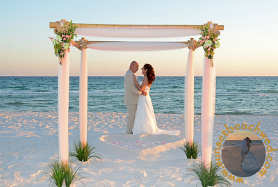 Peach and Ivory with Floral Arrangements and Seagrass