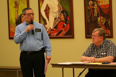 Br. Frank Presto and Fr. Bill Pitcavage.  Fr. Bill was the day's moderator.