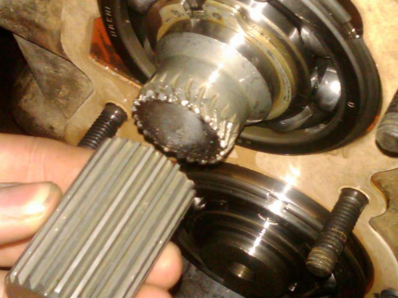 broken main shaft