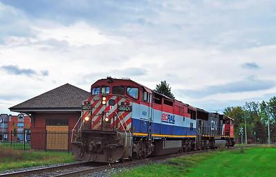 Canadian National 323, St-Jean Qc September  29 2015.