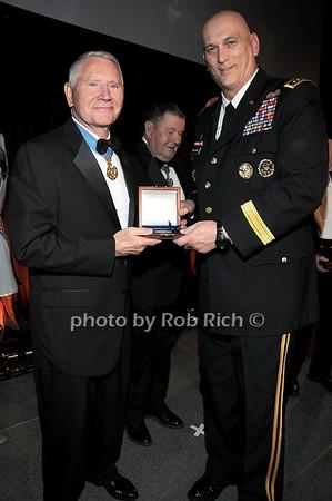Medal of Honor recipient Col Leo K. Thorsness, General Raymond T.Odierno<br /> photo by Rob Rich © 2009 robwayne1@aol.com 516-676-3939