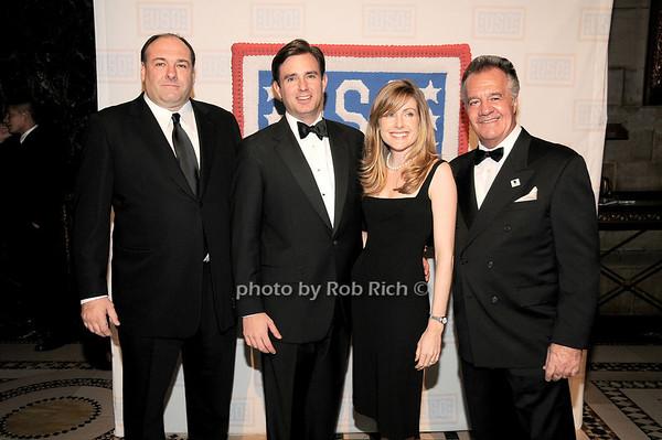 James Gandolfini, Brian Whitting, guest, Tony Sirico<br /> photo by Rob Rich © 2009 robwayne1@aol.com 516-676-3939